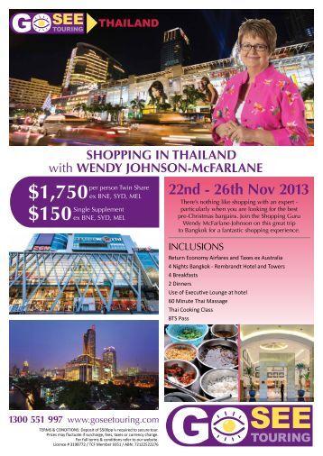 WENDY JOHNSON-McFARLANE 1300 551 997 - Go See Touring