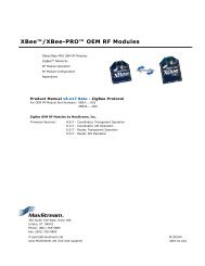 XBee™/XBee-PRO™ OEM RF Modules