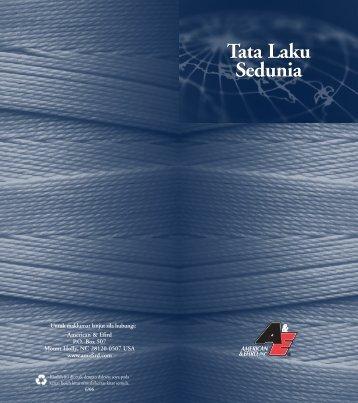 Tata Laku Sedunia Tata Laku Sedunia - American & Efird, Inc