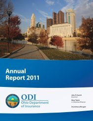Annual Report 2011 - Ohio Department of Insurance - State of Ohio
