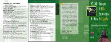 Programma Mostra Olio 2009 (File pdf - 514KB) - Comune di Reggello