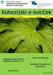 E koticek st 41 - Strukturni skladi EU v Sloveniji