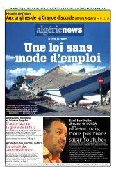 Fr-22-11-2012 - Algérie news quotidien national d'information
