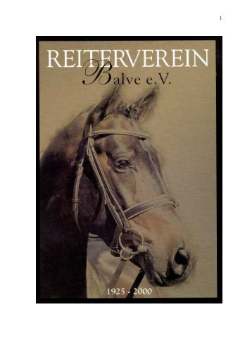 Chronik 75 Jahre Reiterverein Balve e.V. - Stefan Nolte