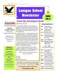 Lanigan School Newsletter - Fulton City Schools - cnyric