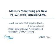 EUEC 2011 Mercury monitoring per PS 12A - Ohio Lumex Co.