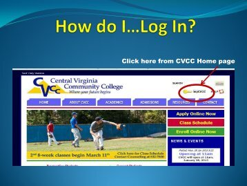 Click here from CVCC Home page
