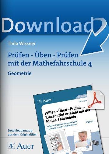 Prüfen - Üben - Prüfen mit der Mathefahrschule 4