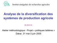 Analyse de la diversification des systèmes de production ... - REPOL
