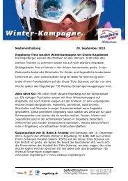 Medienmitteilung 20. September 2011 Engelberg-Titlis lanciert ...