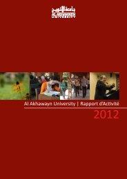 Al Akhawayn University | Rapport d'Activité
