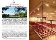 I grandi eventi a Villa San Carlo Borromeo