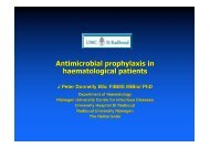 Antimicrobial prophylaxis in haematological patients