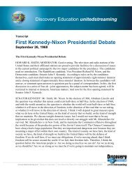 First Kennedy-Nixon Presidential Debate - Discovery Education