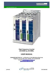 High frequency inverter ACO5000 by ACOMEL USER MANUAL