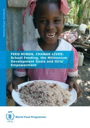 Feed Minds, Change Lives: school Feeding, the Millennium ...