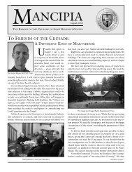 August 2006 Mancipia - Catholicism.org