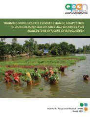 training modules for climate change adaptation in agriculture ... - IGES