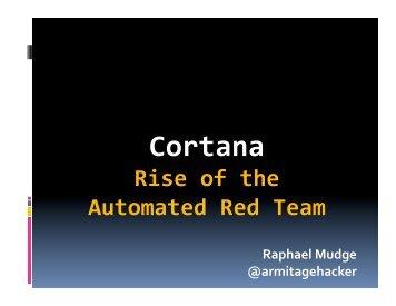 Cortana - Armitage