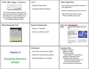 Chapter 4 Evaluating Interface Designs