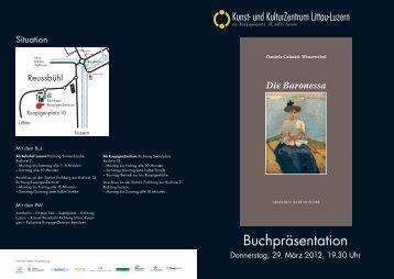 Buchpräsentation - KKZ-Littau