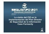 La visión del CIO en la implementación del Plan Director ... - Cybsec