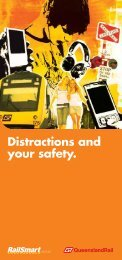 Distractions and your safety. - Queensland Rail
