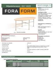 Fora Form Program bord - Lindbak