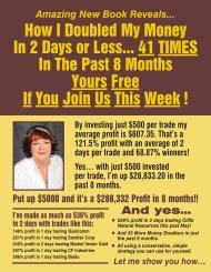 How I Doubled My Money In 2 Days or Less... 41 TIMES In The Past ...