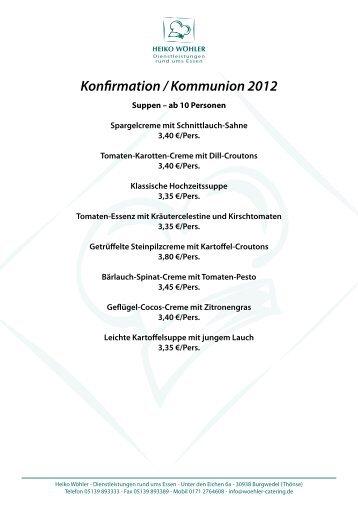 Konfirmation / Kommunion 2012 - Heiko Wöhler - Dienstleistungen ...