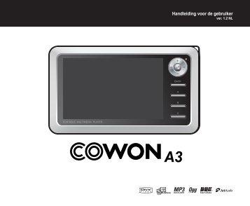 Handleiding voor de gebruiker - Cowon