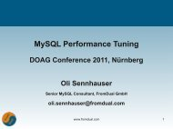 MySQL Performance Tuning - FromDual