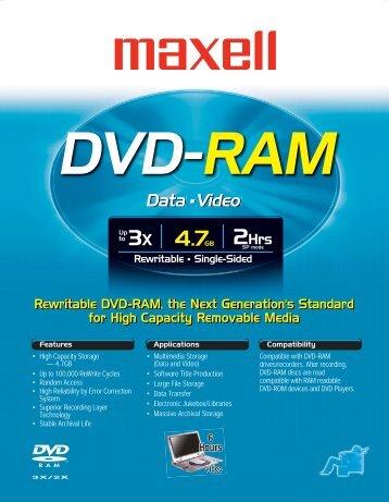 DVD-RAM 3x - Maxell Canada