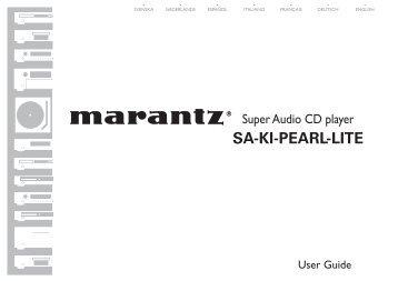 SA KI Pearl Lite Manual - Marantz UK | Home