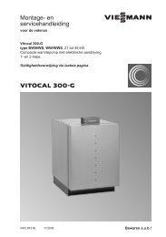 45kW Montage- en service-handleiding Vitocal 300 ... - Viessmann