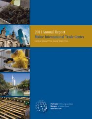 2011 Annual Report - Maine International Trade Center