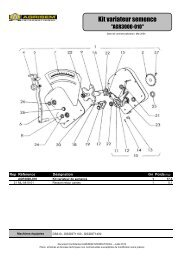 (Entraînement distribution pour semoir mécanique.xls) - agrisem