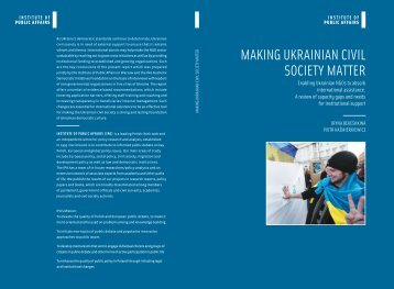 Enabling Ukrainian NGOs 2012 05 18 final.indd - Instytut Spraw ...