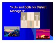 Nuts and Bolts for District Managers – Michigan - nasca