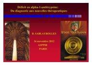 Déficit en alpha-1-antitrypsine: Du diagnostic aux nouvelles ...