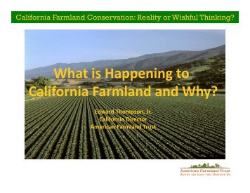 Download presentation - American Farmland Trust