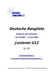 Deutsche Rangliste Junioren U12