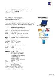 Datenblatt: TERRA MOBILE 1310 Pro Greenline Artikelnummer ...
