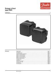 Pompe à fioul type RSH - Danfoss Chauffage