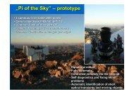 """Pi of the Sky"" – prototype"