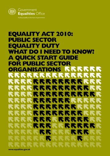 Equality Act 2010: Public Sector Equality Duty what do I need to know?