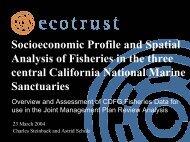 Gulf of Farallones / Cordel Bank National Marine Sanctuary - Ecotrust