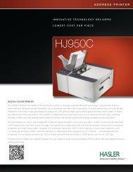 HJ950C DIGITAL COLOR PRINTER - Neopost USA