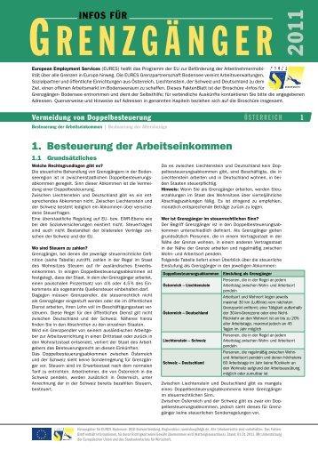 1. Besteuerung der Arbeitseinkommen - EURES Bodensee