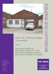 Industrial and commercial - Lee Shaw Partnership